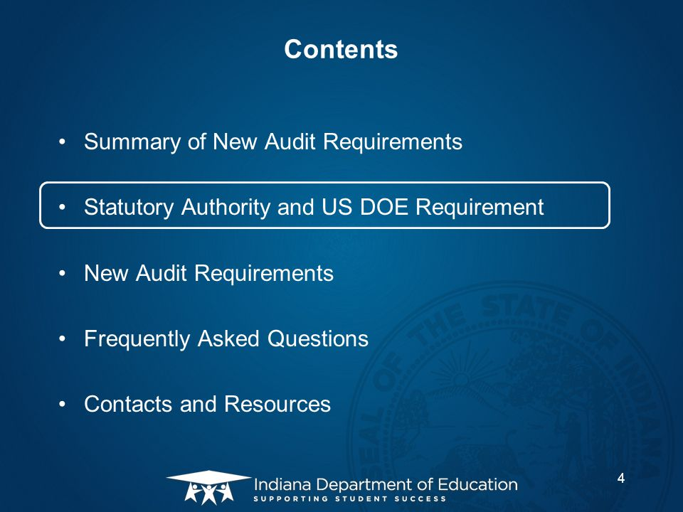 Frequently Asked Questions Q: When are the new charter school audit requirements effective.