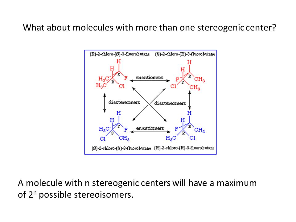 What about molecules with more than one stereogenic center.