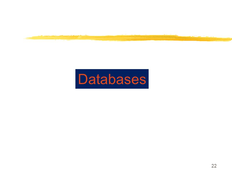 22 Databases