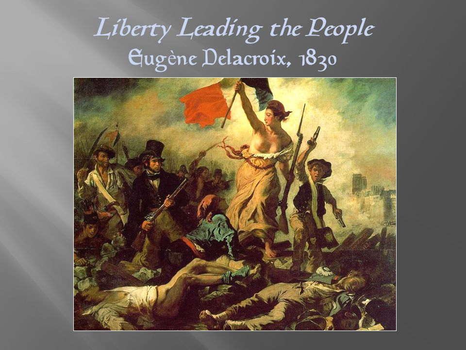 Liberty Leading the People Eug è ne Delacroix, 1830
