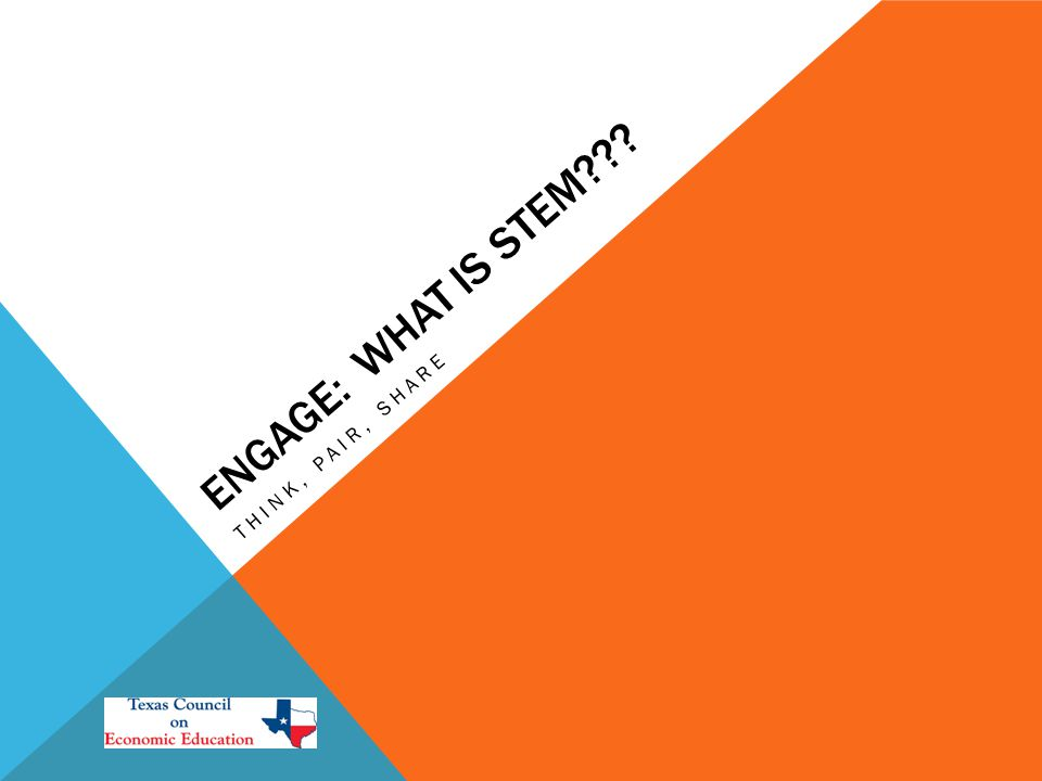 ENGAGE: WHAT IS STEM THINK, PAIR, SHARE