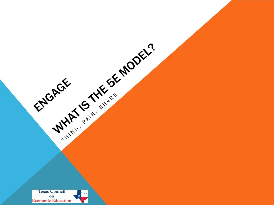ENGAGE WHAT IS THE 5E MODEL? THINK, PAIR, SHARE