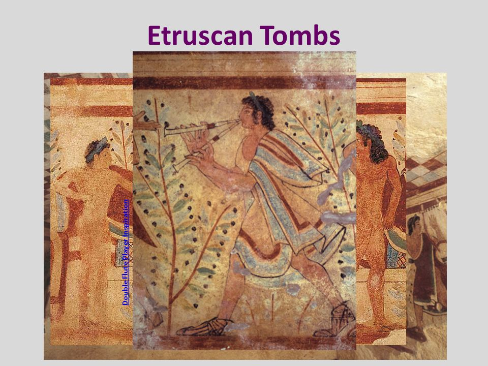 Etruscan Tombs Banqueting Scene – the Tomb of the Leopards Double Flute Player Inspiration