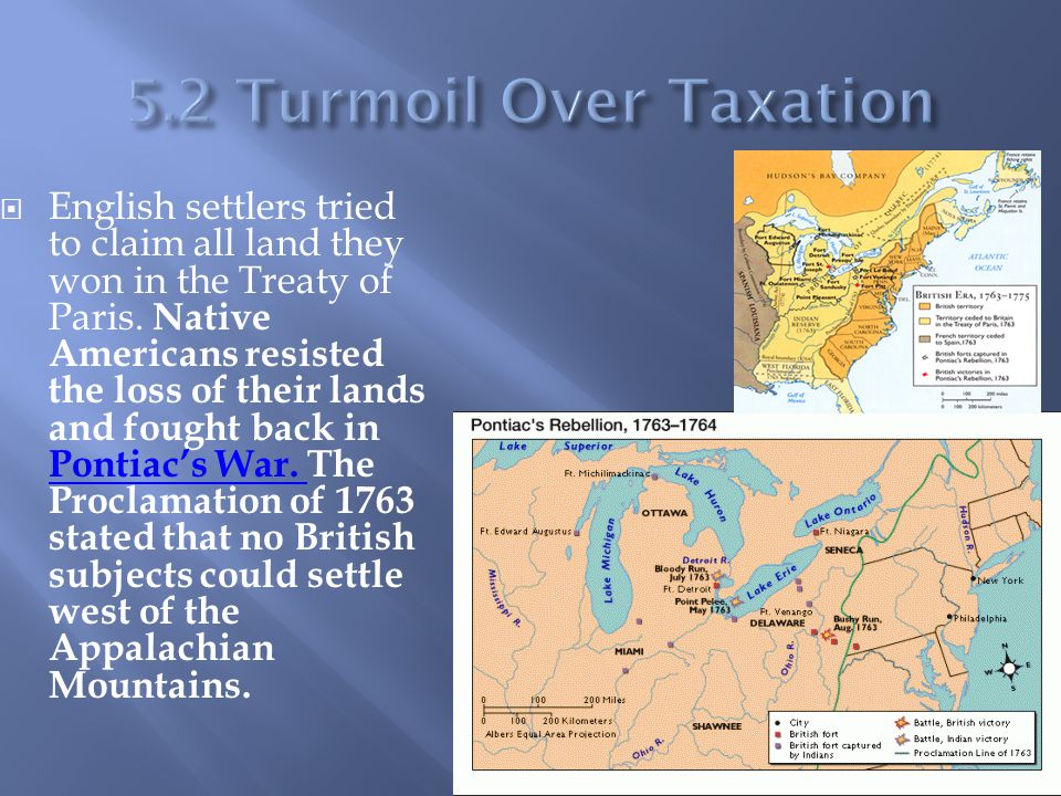  English settlers tried to claim all land they won in the Treaty of Paris. Native Americans resisted the loss of their lands and fought back in Ponti