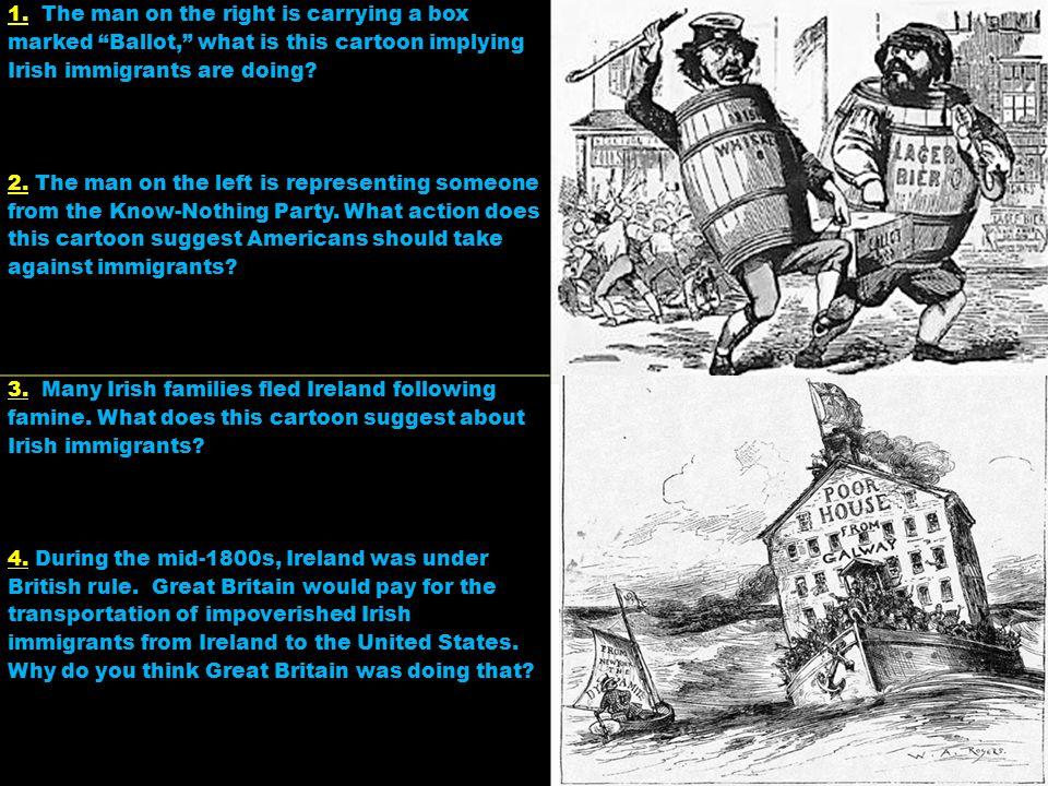 5.This cartoon depicts an Irishman.