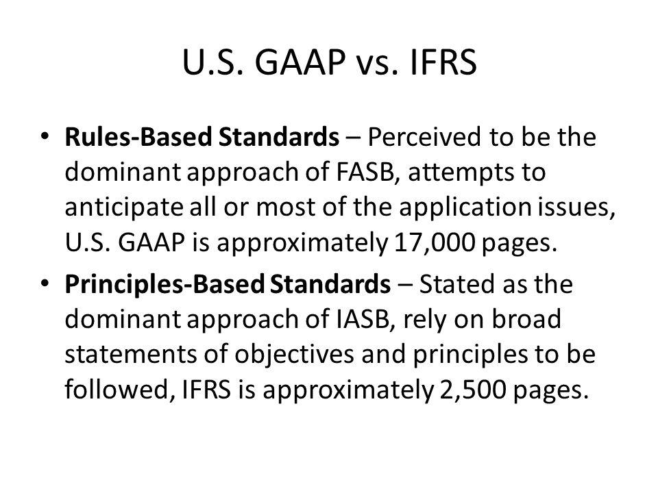 U.S. GAAP vs.