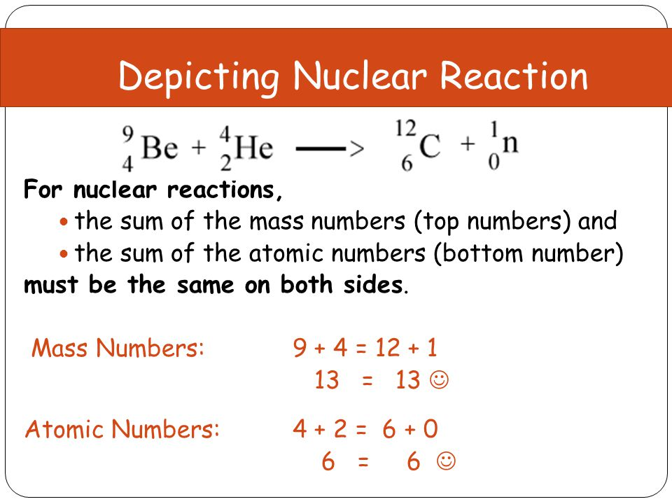 Finding the Missing Nucleus Mass Numbers 234 = 4 + ? ? = 230 Atomic Numbers 90 = 2 + ? ? = 88