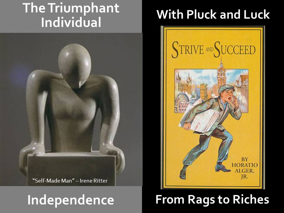 "With Pluck and Luck The Triumphant Individual Independence From Rags to Riches ""Self-Made Man"" – Irene Ritter"