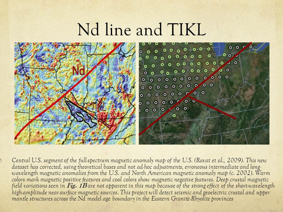 Nd line and TIKL Central U.S. segment of the full-spectrum magnetic anomaly map of the U.S.