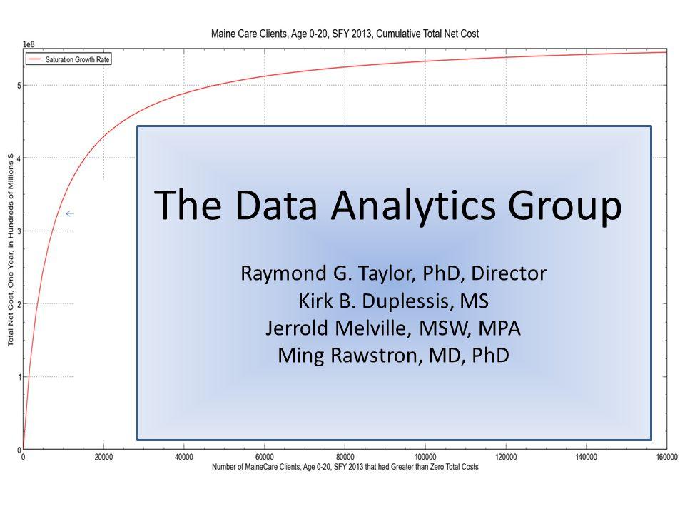 The Data Analytics Group Raymond G. Taylor, PhD, Director Kirk B. Duplessis, MS Jerrold Melville, MSW, MPA Ming Rawstron, MD, PhD