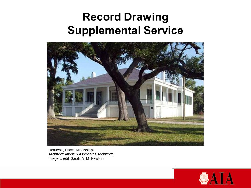 Record Drawing Supplemental Service Beauvoir; Biloxi, Mississippi Architect: Albert & Associates Architects Image credit: Sarah A.