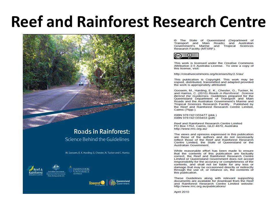 Reef and Rainforest Research Centre
