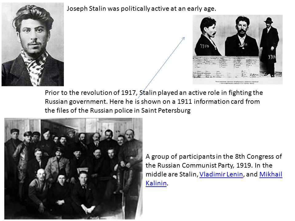 Joseph Stalin was politically active at an early age.