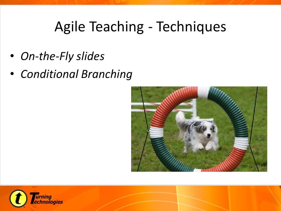 Agile Teaching - Techniques On-the-Fly slides Conditional Branching