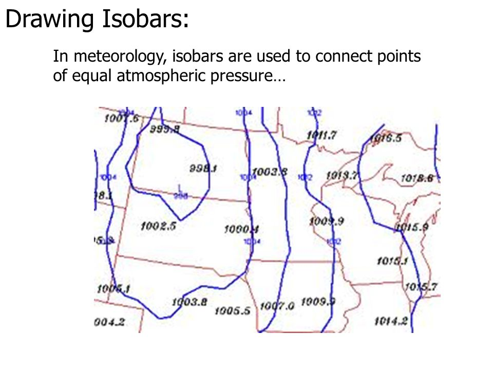 Drawing Isobars: This information will graphically depict weather phenomena that can be used in forecasting…