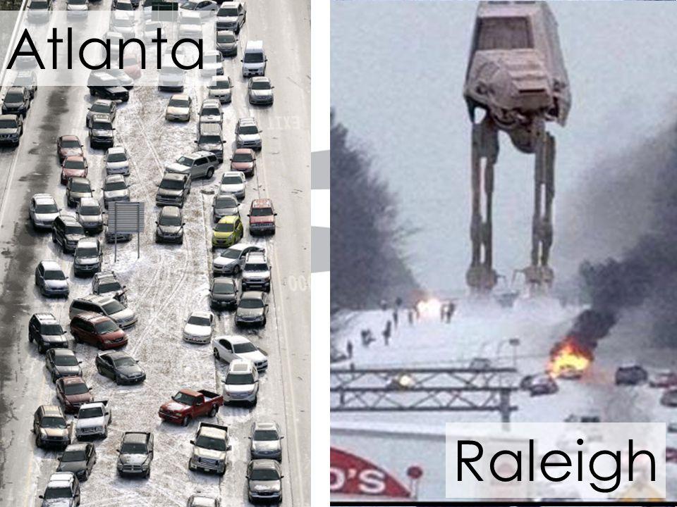 6 Atlanta Raleigh