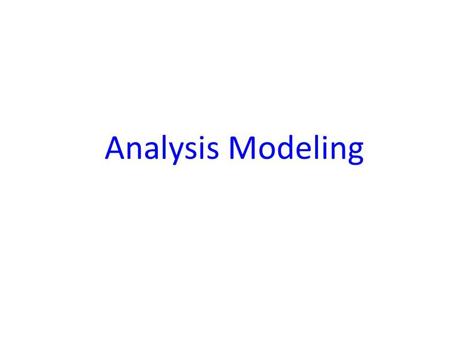 Analysis Modeling