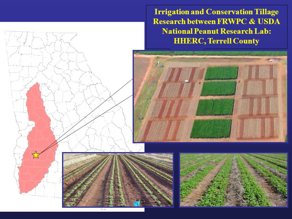 Irrigation and Conservation Tillage Research between FRWPC & USDA National Peanut Research Lab: HHERC, Terrell County