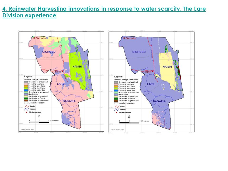 4. Rainwater Harvesting innovations in response to water scarcity, The Lare Division experience