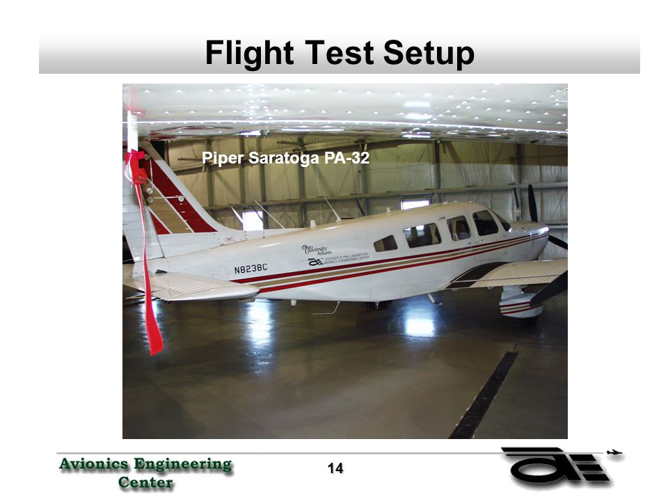 14 14 Flight Test Setup Piper Saratoga PA-32