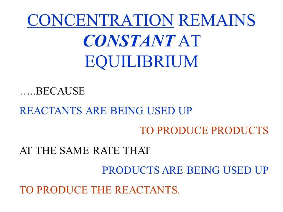 K c or K eq or K P are EQUILIBRIUM CONSTANTS.