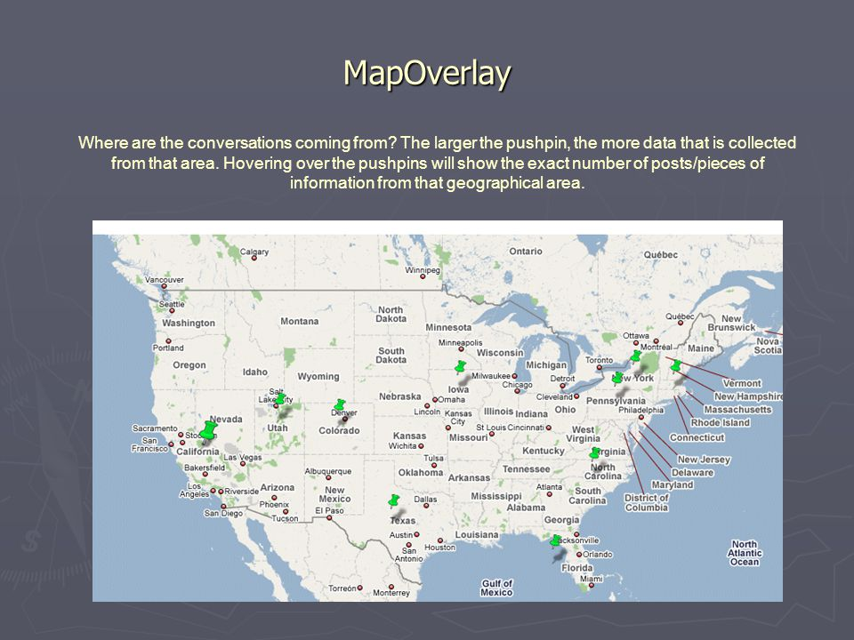MapOverlay Where are the conversations coming from.