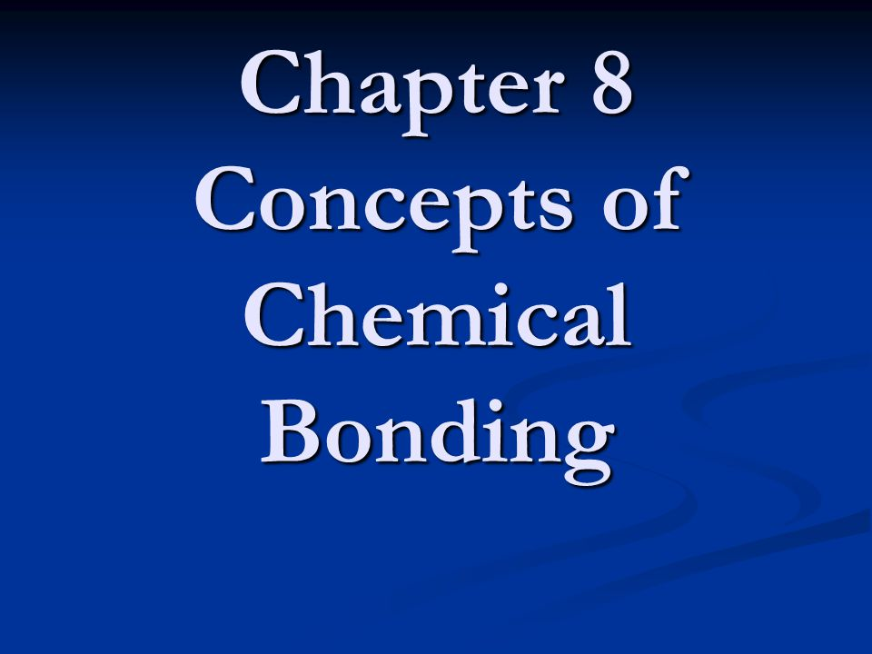 Chemical Bonds Three basic types of bonds: Ionic Electrostatic attraction between ions Covalent Sharing of electrons Metallic Metal atoms bonded to several other atoms
