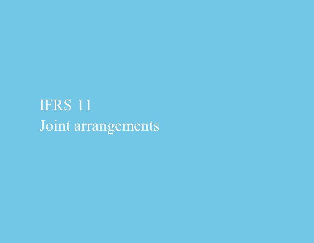 IFRS 11 Joint arrangements