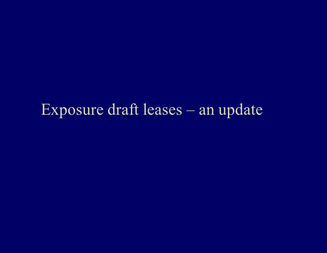 Exposure draft leases – an update