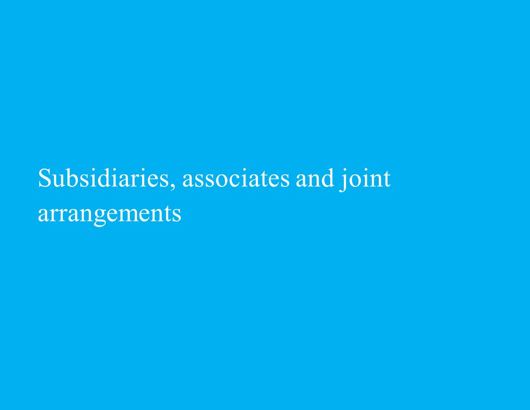 Subsidiaries, associates and joint arrangements