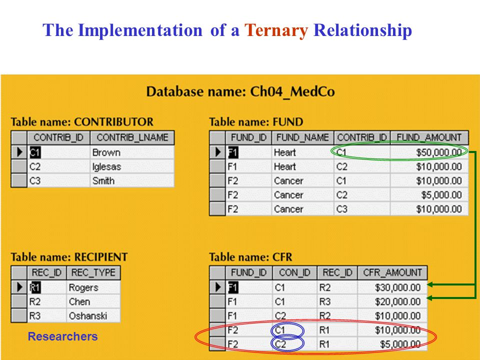 The Implementation of a Ternary Relationship Researchers