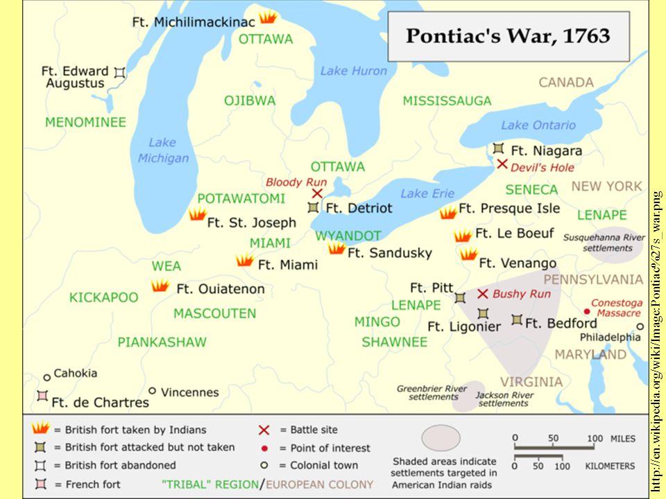 Pontiac's Uprising http://en.wikipedia.org/wiki/Image:Pontiac%27s_war.png
