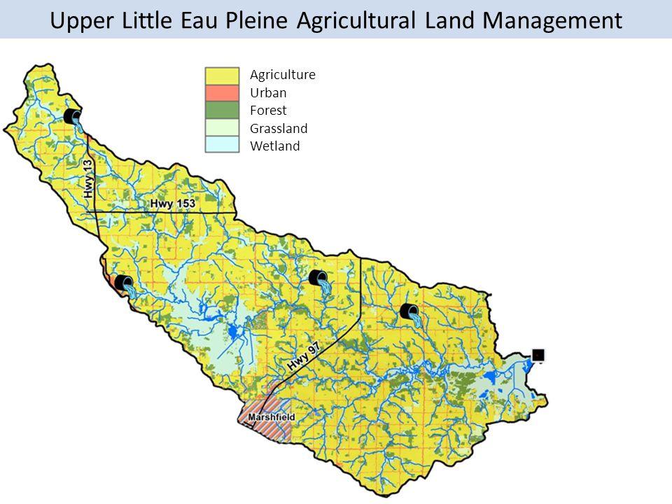 Upper Little Eau Pleine Agricultural Land Management Agriculture Urban Forest Grassland Wetland