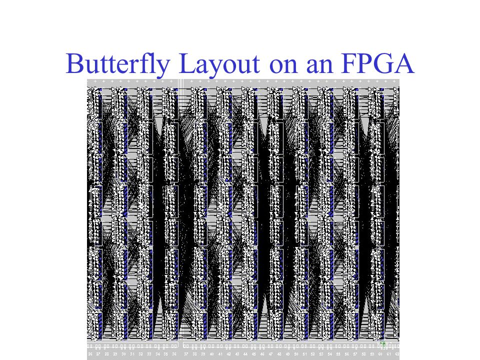 Butterfly Layout on an FPGA