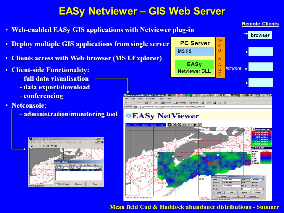 EASy Netviewer – GIS Web Server Web-enabled EASy GIS applications with Netviewer plug-in Web-enabled EASy GIS applications with Netviewer plug-in Clie