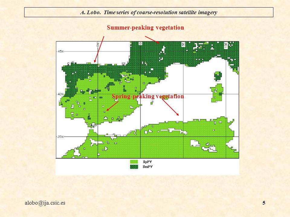 alobo@ija.csic.es A. Lobo. Time series of coarse-resolution satellite imagery 16