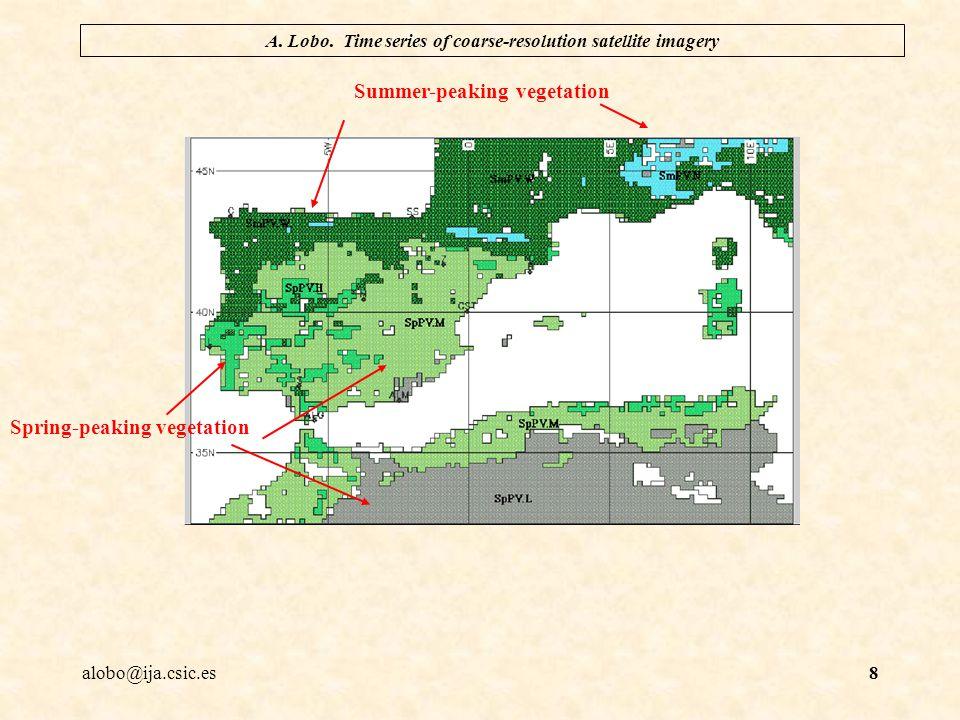 alobo@ija.csic.es A. Lobo. Time series of coarse-resolution satellite imagery 9