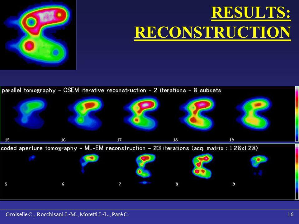 Groiselle C., Rocchisani J.-M., Moretti J.-L., Paré C.15 RESULTS: RECONSTRUCTION
