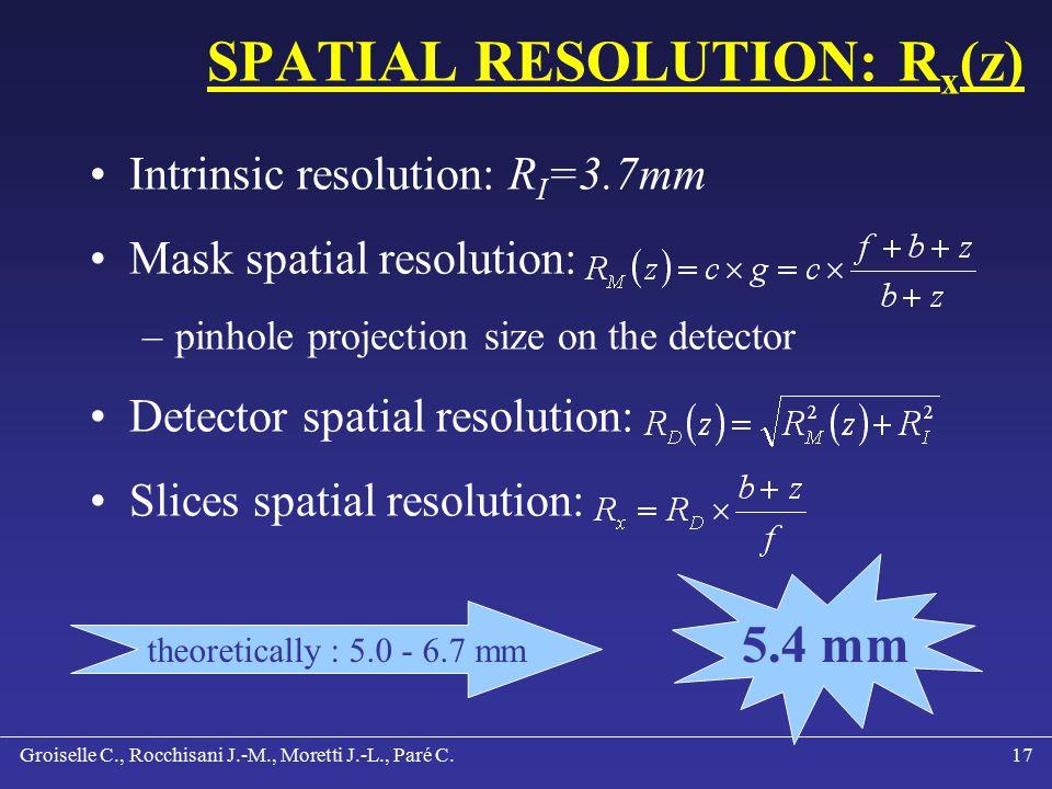 Groiselle C., Rocchisani J.-M., Moretti J.-L., Paré C.16 RESULTS: RECONSTRUCTION