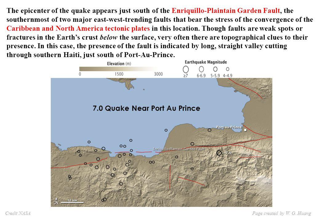7.0 Quake Near Port Au Prince Page created by W. G.