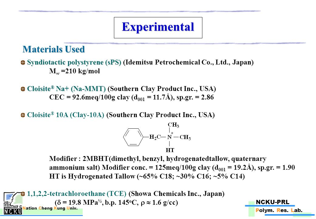 NCKU-PRL Polym. Res. Lab. Nation Cheng Kung Univ. Results and Discussion (Contd.) LCST Behavior :