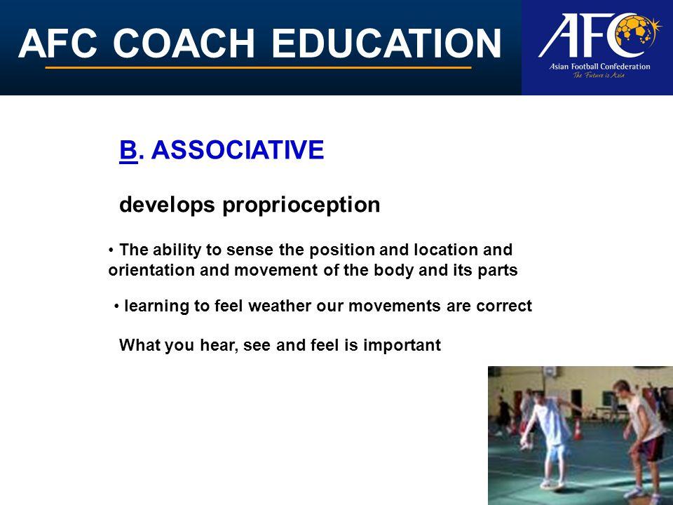 AFC COACH EDUCATION develops proprioception B.