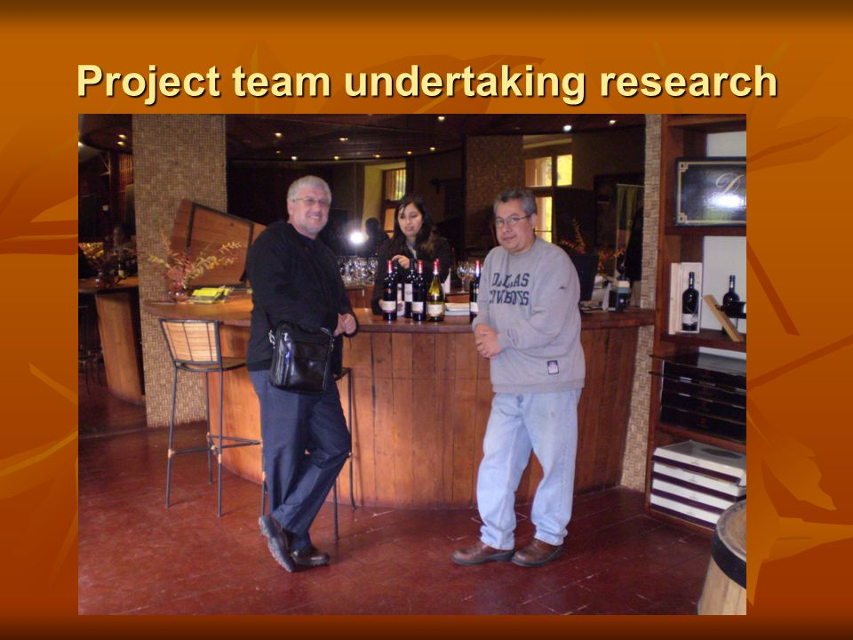 Project team undertaking research