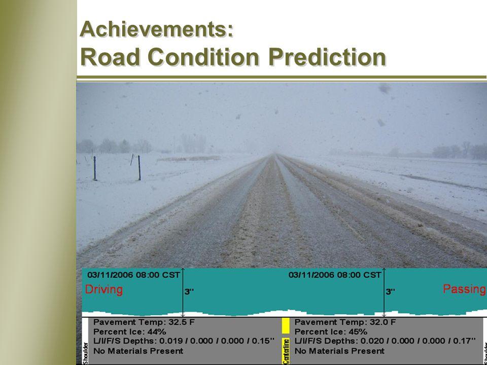 8 Achievements: Road Condition Prediction