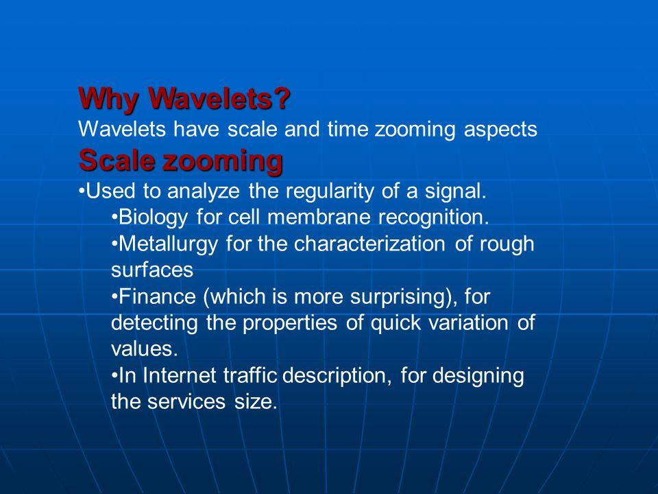 Why Wavelets.