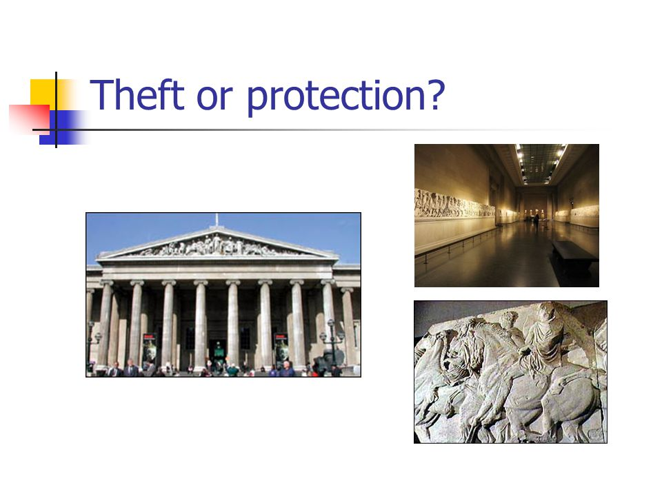Theft or protection?