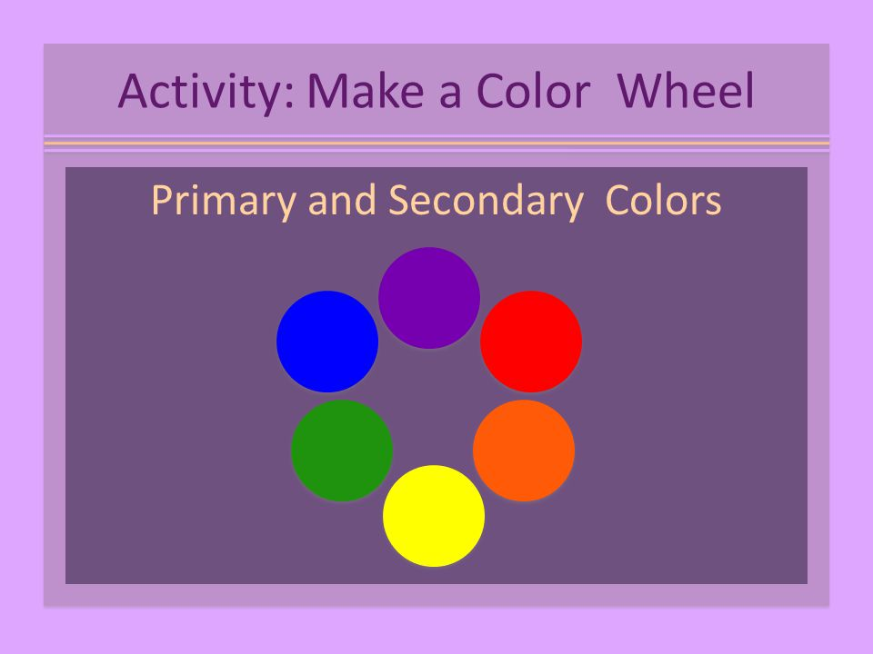 Primary and Secondary Colors Activity: Make a Color Wheel