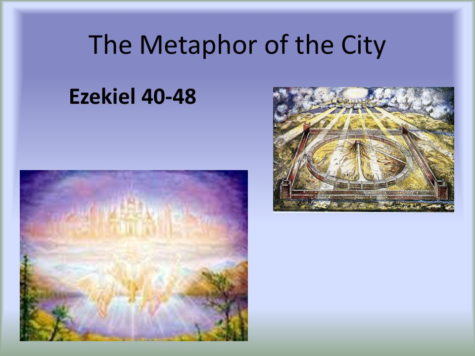 The Metaphor of the City Ezekiel 40-48