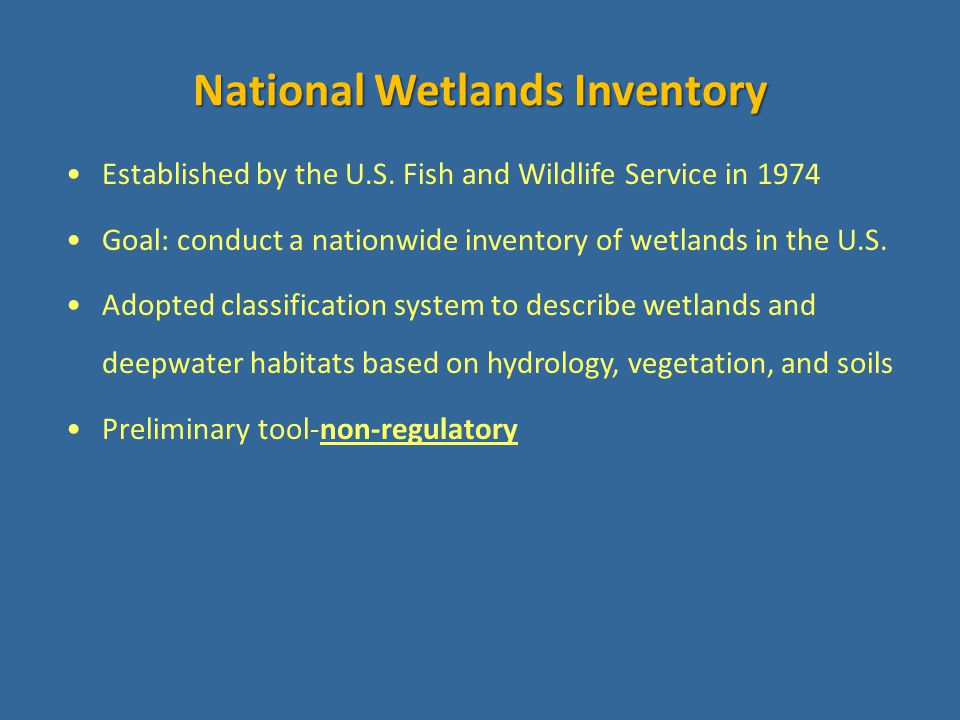Standard for wetland mapping in the U.S.
