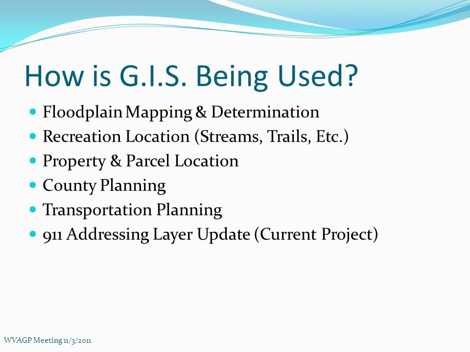 How is G.I.S.Being Used.